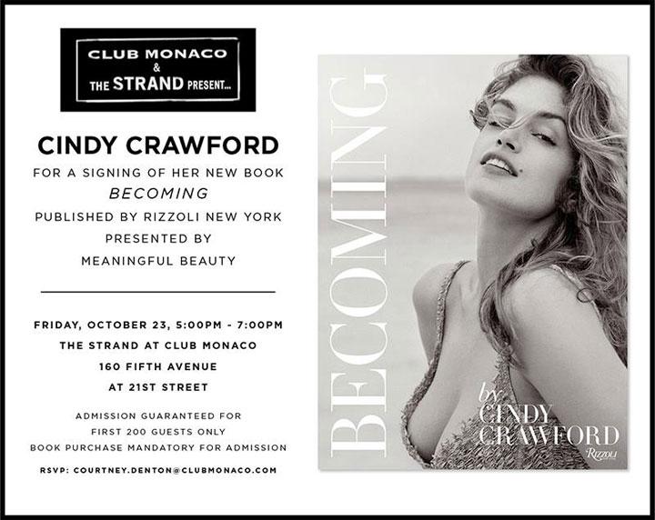 Cindy Crawford at Club Monaco