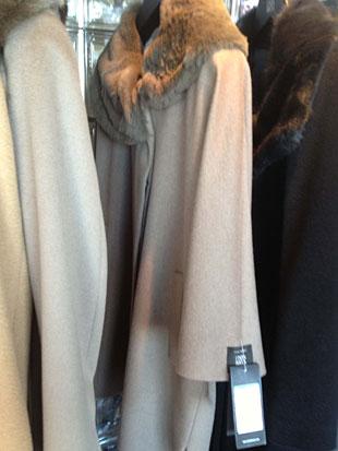 Cinzia Rocca Wool and Angora w/ Alpaca Fur Walking Coat ($1,000)