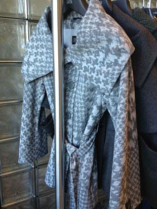 Cinzia Rocca Angora and Wool Gray and White Herringbone Coat ($300)