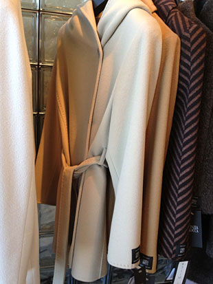 Cinzia Rocca Ivory Wool Short Coat w/ Tie ($300)