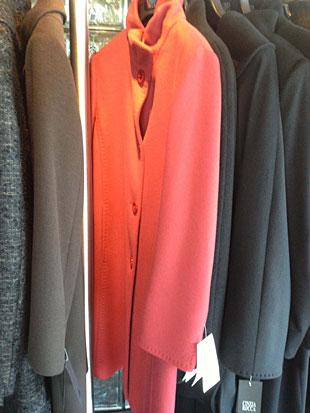 Cinzia Rocca  Long Red Walking Coat in Size 4 ($350)