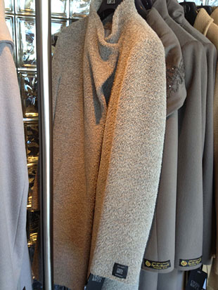 Cinzia Rocca Surialpaca and Wool on a Grey and Black Walking Coat ($400,)