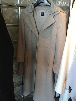Cinzia Rocca Light Brown Wool Walking Coat w/ Sweater Sleeves ($400)