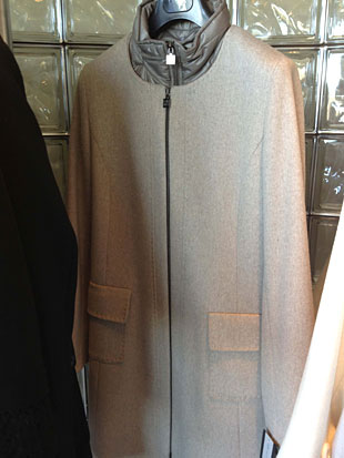 Cinzia Rocca  Zip Up Wool Walking Coat w/ a Polyester Neck for chilly days ($400)