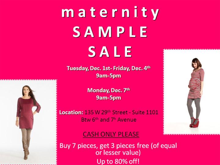 Circle Showroom Designer Maternity Sample Sample