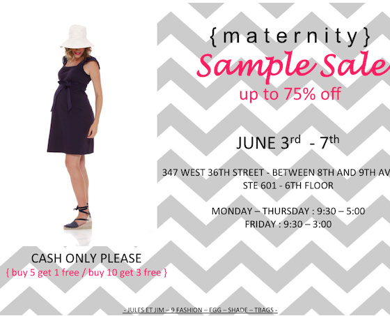 Circle Showroom Maternity Sample Sale