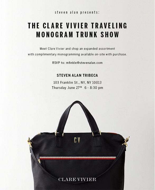 Clare Vivier's Traveling Monogram Trunk Show