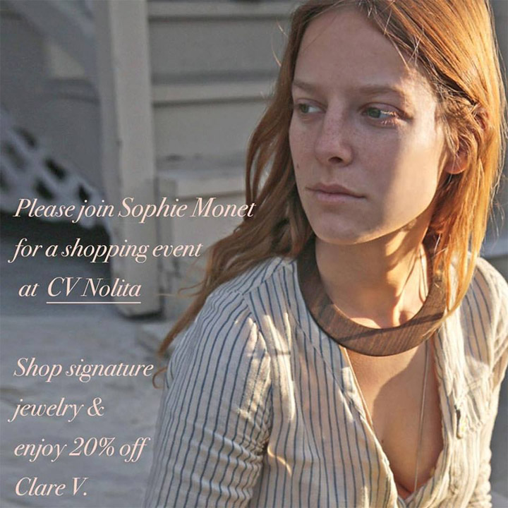 Clare Vivier + Sophie Monet Shopping Event