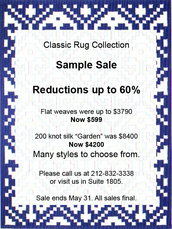 Classic Rug Collection Sample Sale