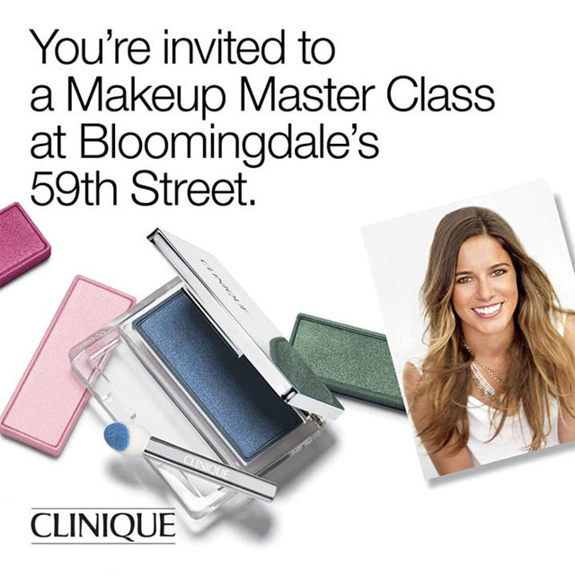 Clinique Makeup Master Class at Bloomingdale's