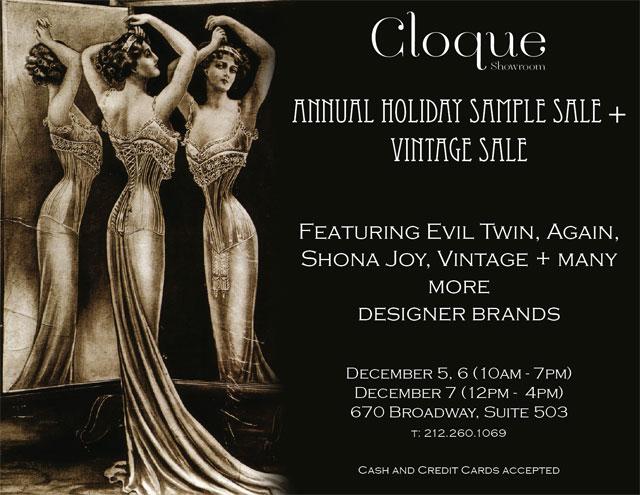 Cloque Showroom Holiday Sample Sale