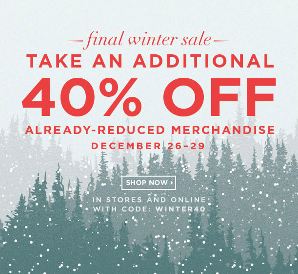 Club Monaco Final Winter Sale