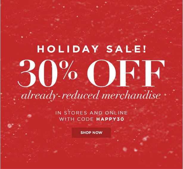 Club Monaco Holiday Retail Sale