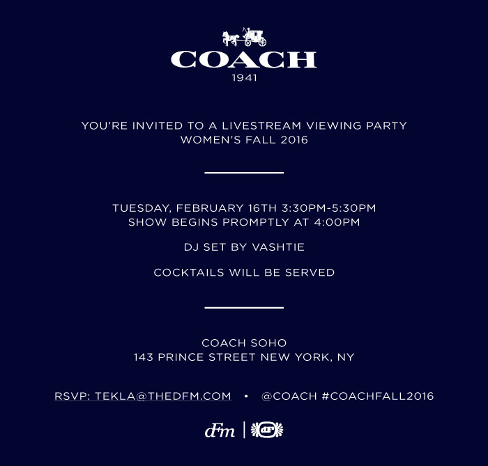 Coach NYFW Viewing Party
