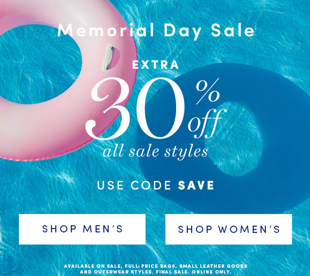 Cole Haan Memorial Day Sale