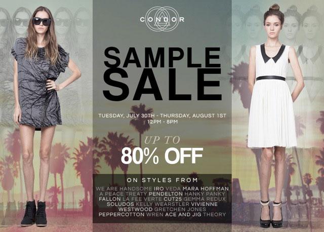 Condor Sample Sale