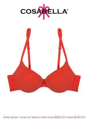 Cosabella Aire mesh push up bra: $45 (orig. $90)