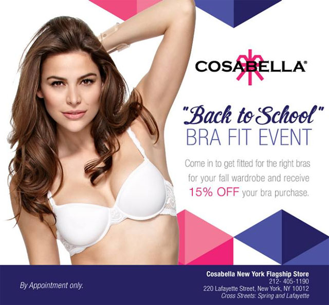 Cosabella 'Back to School' Bra Fit Event