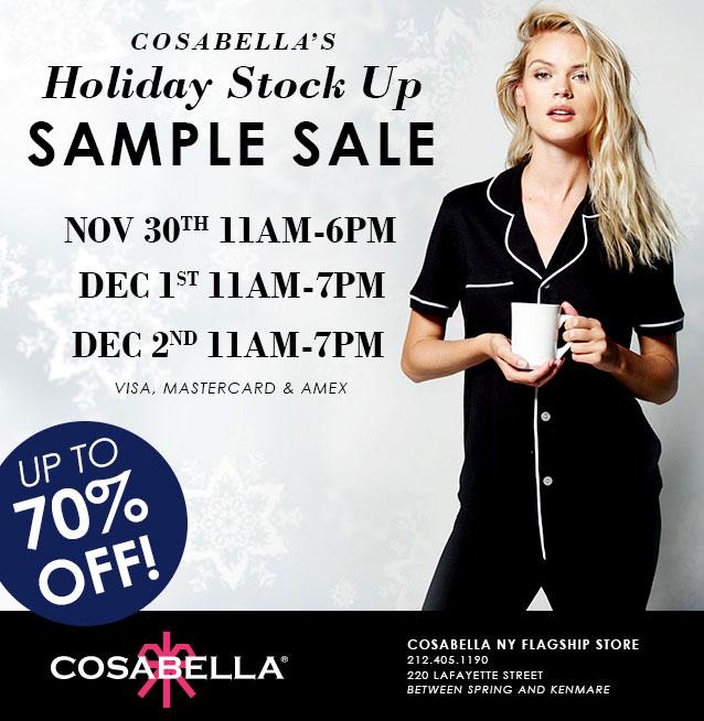 Cosabella Holiday Sample Sale