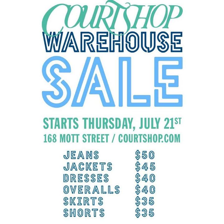 Courtshop Warehouse Sale