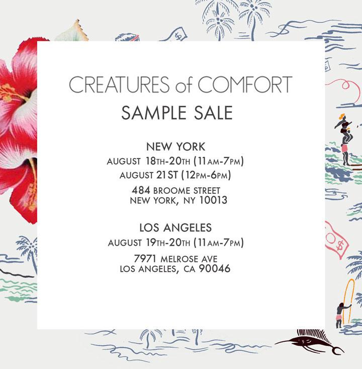 Creatures of Comfort Sample Sale