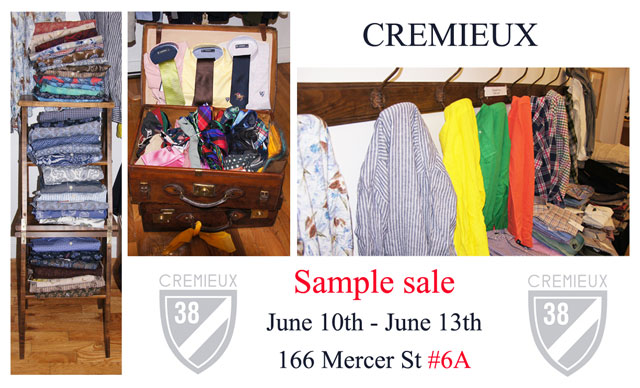 Cremieux Sample Sale