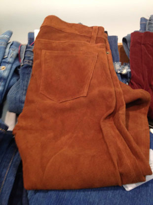 Current Elliot Rustic Suede Pants in Size 29 that scream 1970's ($330)
