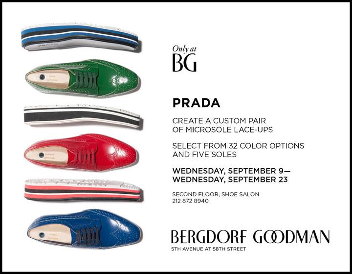 Create a Custom Pair of Prada Microsole Lace-ups at Bergdorf Goodman