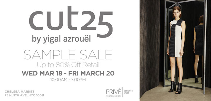 Cut25 by Yigal Azrouel Sample Sale