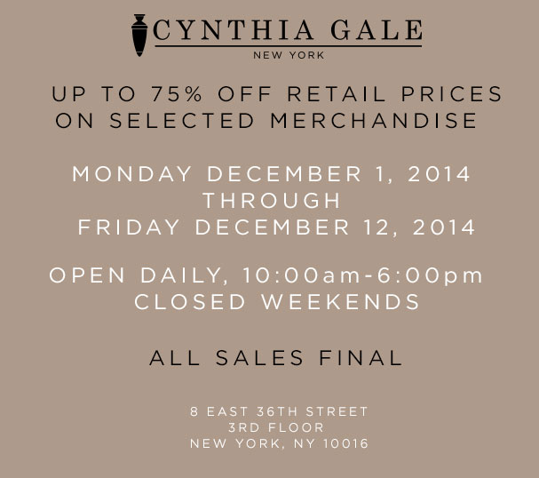 Cynthia Gale Private Holiday Sample Sale