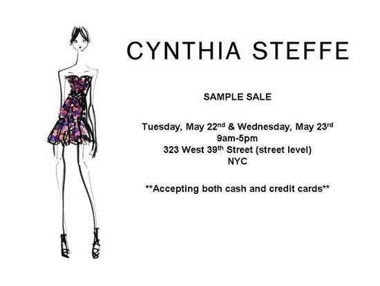 Cynthia Steffe Sample Sale