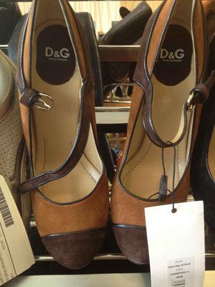 D&G Brown Two Town Strap Heels ($208, orig. $208)