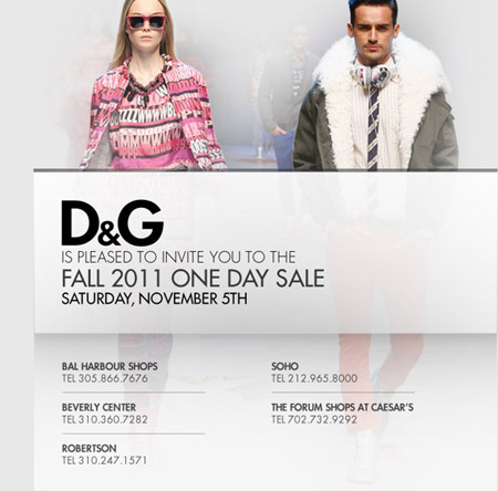 D&G One Day Sale