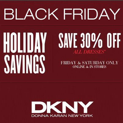 DKNY Black Friday Sale