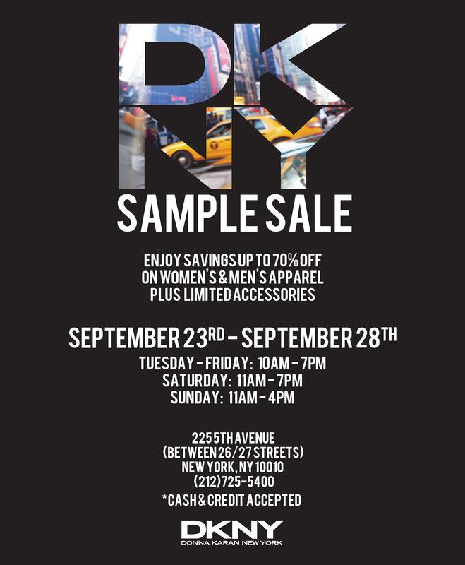 DKNY Sample Sale