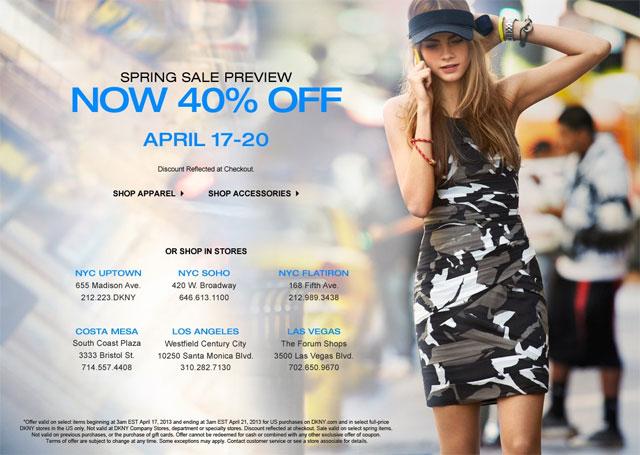 DKNY Spring Preview Sale