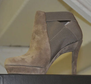 Suede Bootie at the DKNY Sample Sale