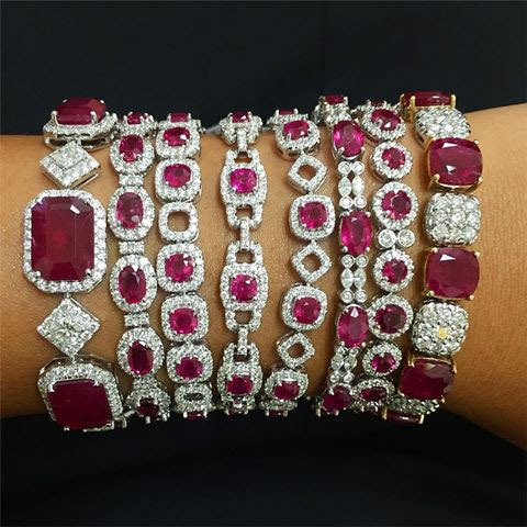 DVANI Ruby and diamond bracelets