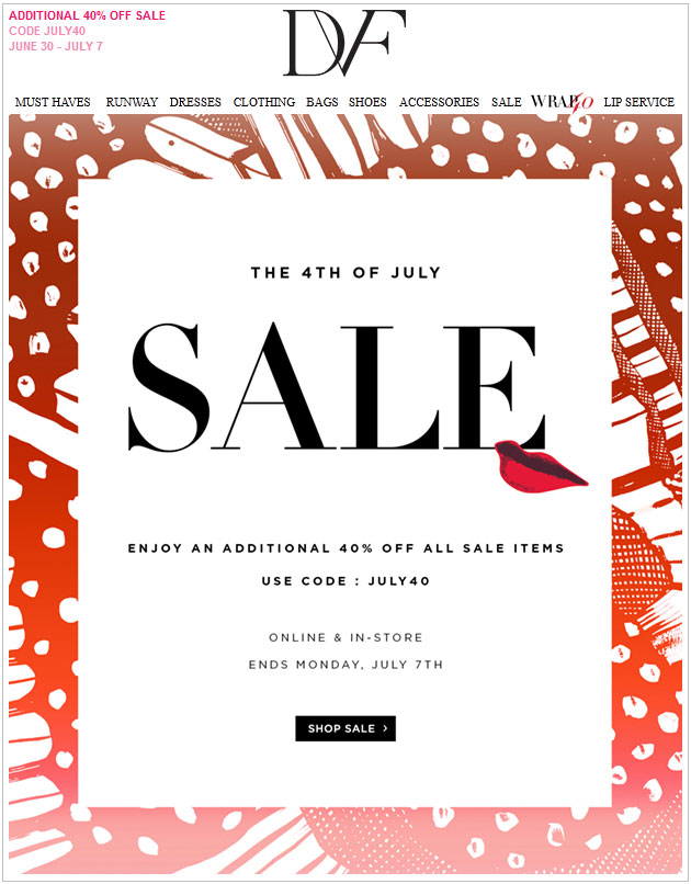 DVF 4th of July Sale