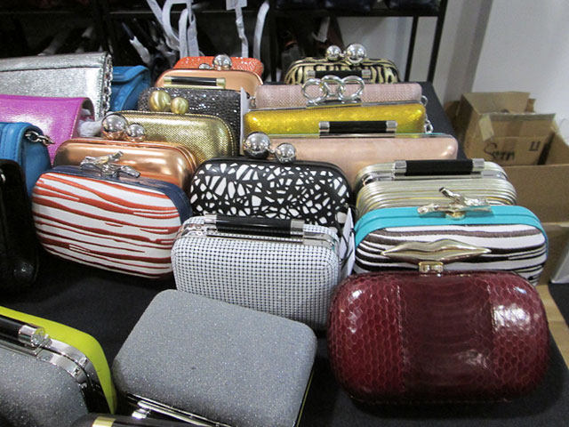 Handbags were marked down to $175, clutches for $100