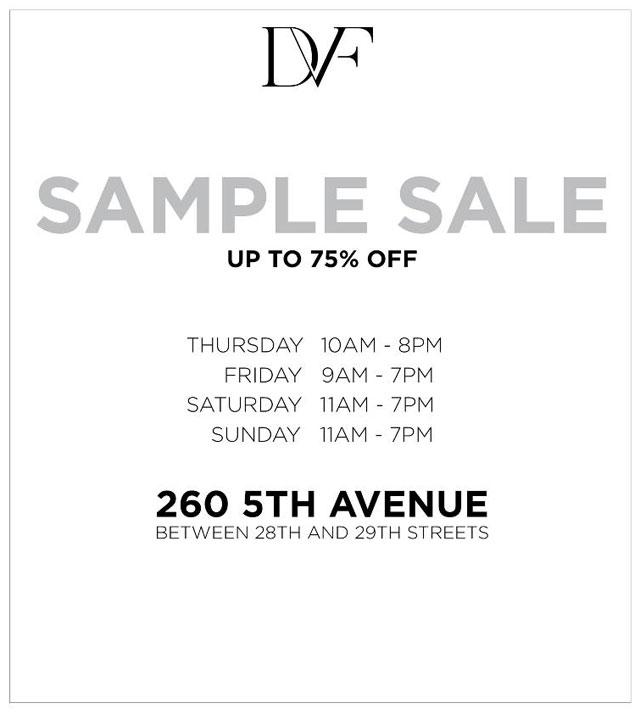 DVF - Diane von Furstenberg Sample Sale