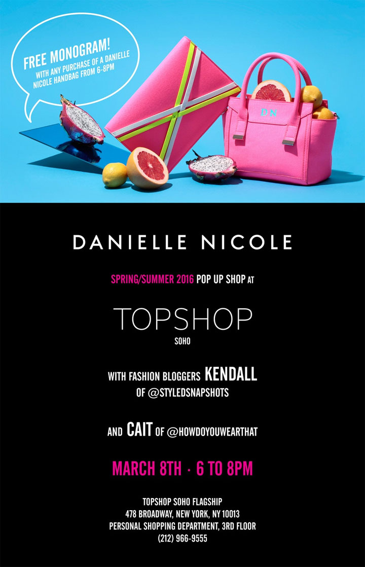 Danielle Nicole Spring/Summer 2016 Pop-up Shop at TopShop