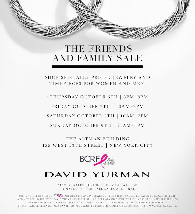 David Yurman Friends & Family Sale