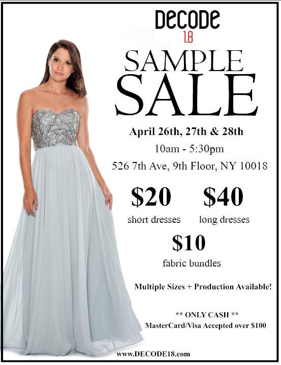 a664e07a9bff Decode 1.8 Bridalwear & Eveningwear New York Sample Sale