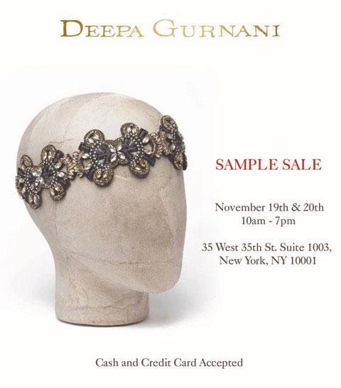 Deepa Gurnani Sample Sale