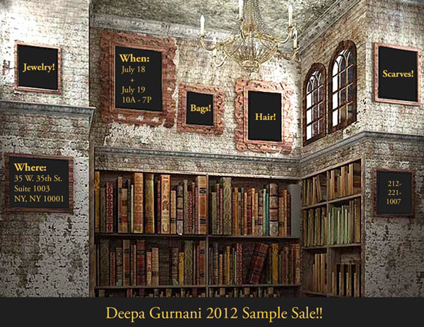 Deepa Gurnani Sample Sale