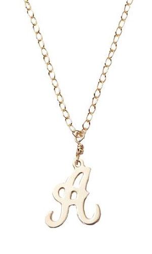 Delicate Rymond Mini Initial Cutout Necklaces: $13.50 (orig. $45)