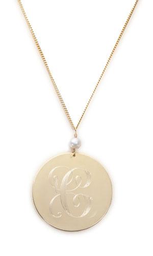 Delicate Rymond Vintage monogram necklace: $49.50 (orig. $165)