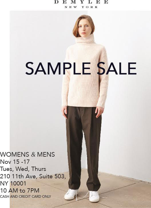 DemyLee Winter Sample Sale