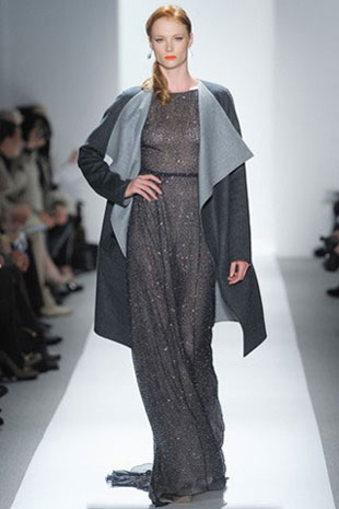 Dennis Basso Gown with Blue Grey Sable and Cashmere Coat ($6,300)